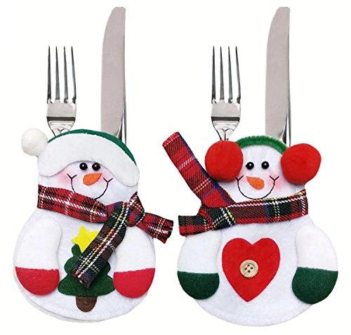 2-papa-noel-navidad-mujer-set-muneco-de-nieve-funda-cubiertos-y-bolsa-para-la-gabe-b-mesa