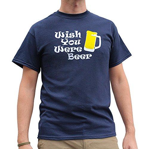 Nutees Wish You Were Beer Irish St Patrick Day Funny Herren T Shirt - Marineblau XX-Large (Bong Kostüm Bier)