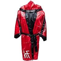 KRF Feel The Enemy 0013303 Bata Competición de Boxeo, Hombre, Rojo, L