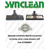 Bürste kombiniert Mod.92mit Platte vernickelt, Strip Und Rollen Durchmesser Ø37–synclean