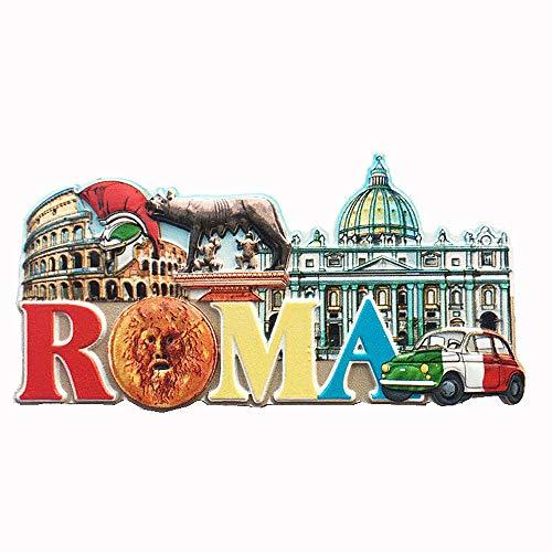 Vatikan, Kolosseum Rom Italien, 3D-Kühlschrankmagnet, Souvenir, Geschenk, Dekoration für Zuhause und Küche, Magnet-Aufkleber, Roma-Kühlschrank-Magnet-Kollektion