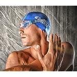 Cressi-Flash-DE202322-Occhialini-Nuoto-Anti-UV-Adulto-Uomo-TrasparenteBluLenti-Chiare-Taglia-D-140-mm