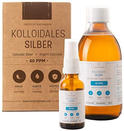 Kolloidales Silber 100% natürlich 40 PPM (300 ml) ✅Mit unentbehrlichem auffüllbarem 30ml-Spray und praktischem Messdeckel ✅Hohe Konzentration, kleinere Partikeln, höhere Wirksamkeit ✅Reinheit und Konzentration von unabhängigen Laboren getestet ✅Made in the EU.