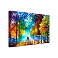 "AT54378D: Freshness Of Cold By Leonid Afremov On Framed Canvas Pictures New Modern Art Prints Wall Decor Scenery Size: A3 - 16"" X 12"" (40cm X 30cm)"