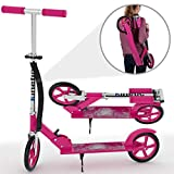 Kinetic Sports Scooter Cityroller Roller Tretroller Klappbar 205 mm XXL Räder bis 75kg PINK
