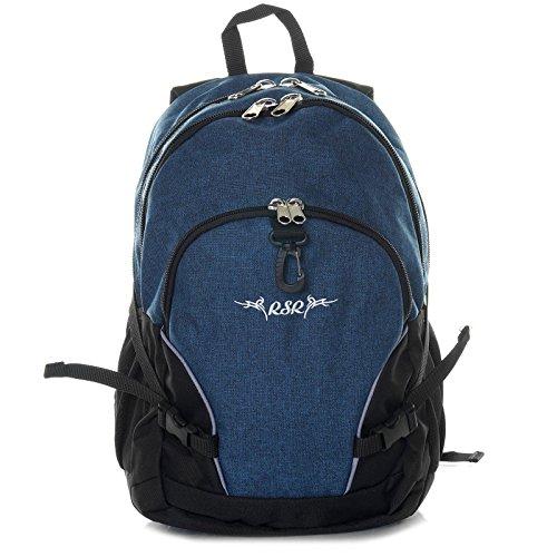 Roomster Mädchen Jungen Schul Rucksack Ranzen 18l groß leicht stabil 21596, Farbe:Blau (Blu-ranzen)