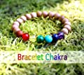Bracelet 7 chakras pour femme, harmonisation des chakras, reiki, yoga, guérison, pierres naturelles et perles de bois, cadeau anniversaire Noël mariage