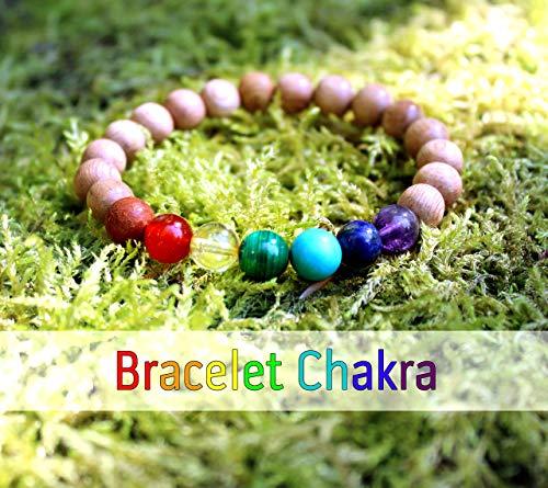 Chakra Armband für Frauen, Energietherapie, Heilung der 7 Chakras, Holzperlen und Natursteine, Geburtstagsgeschenkidee, Damen Geschenke