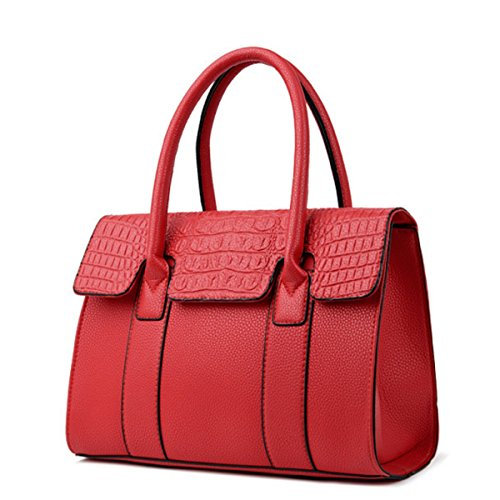 Damen Handtasche Wild Fashion Umhängetasche Diagonal Paket Red