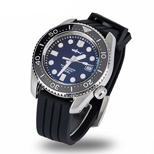 Automática Correa de silicona de hombre reloj SBBN017profundo azul reloj automático
