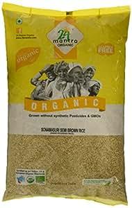 24 Mantra Organic Sonamasuri Semi Brown Rice Hand Pounded, 5kg