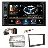 Kenwood DNX-4180BTS Navigation Naviceiver Bluetooth CarPlay USB CD DVD Autoradio FLAC Doppel Din Einbauset für FIAT Ducato Boxer Jumper