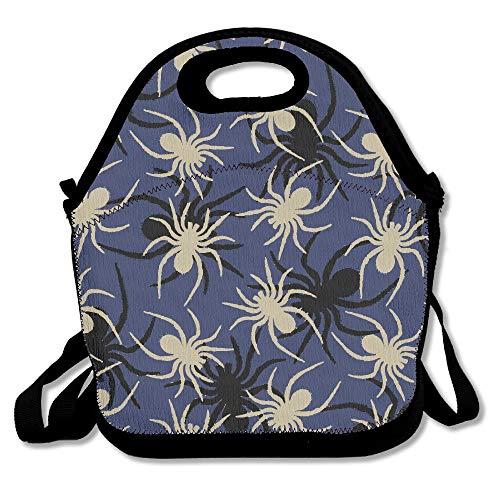 KLing Paar Spider grau lunchpaket Tote Handtasche Lunchbox für Schule Arbeit im freien 16 x 24,40 cm x 60 cm