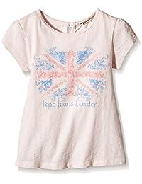 Pepe Jeans Virginie Kids - Camiseta Bebé-Niños, Rosa (Pale), 18-24 meses (Talla del fabricante: 2)