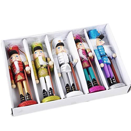 5 Stücke Weihnachten Nussknacker Soldaten Hölzerne Nussknacker Spielzeug Figur Weihnachten Handwerk Home Office Weihnachtsgeschenk Dekoration