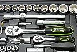 STARKMANN 108 teiliger Steckschlüssel-Satz Ratschenkasten Werkzeug-Kasten -