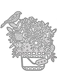 JiaMeng Plantillas de moldes de Corte de Metales del Coraz¨®n de la Flor