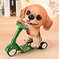 ALILEO Sliding Plate Pet Dog Mini Resin Craft Animal Ornament Home Accessories Dog Resin Craft Supplies Handicraft Furnishing Articles,B