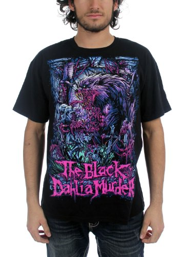 the-black-dahlia-murder-herren-wolfman-t-shirt-in-schwarz-medium-black