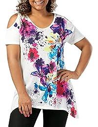 LILICAT® Camisetas Mujeres tallas grandes (XL-5XL), 2018 Mujeres Moda estampadas