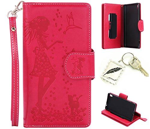 Preisvergleich Produktbild Silikonsoftshell PU Hülle für Sony Xperia XA Ultra (6,0 Zoll Tasche Schutz Hülle Case Cover Etui Strass Schutz schutzhülle Bumper Schale Silicone case+Exquisite key chain X1) #AR (7)