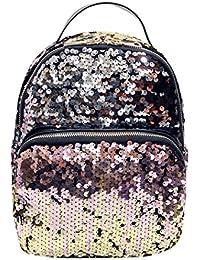 Bolsos Para mujer, RETUROM Chica de estilo Cool lentejuelas viaje escuela Mochila bolsa