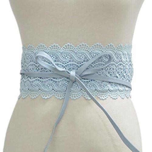 Mode Damen Kleid Zubehör Elastische Stretch Taille Retro Cinch Gürtel Spitze Bowknot Binden Wrap Boho Damen Taille 2018 (Wrap Cinch)