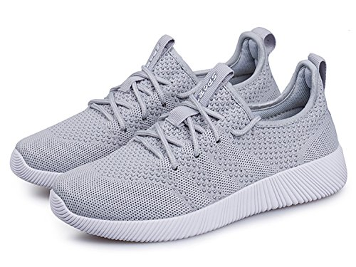 Uomo Donna Scarpe da Ginnastica Corsa Sportive Running Sneakers Fitness Interior Casual all'Aperto grigio