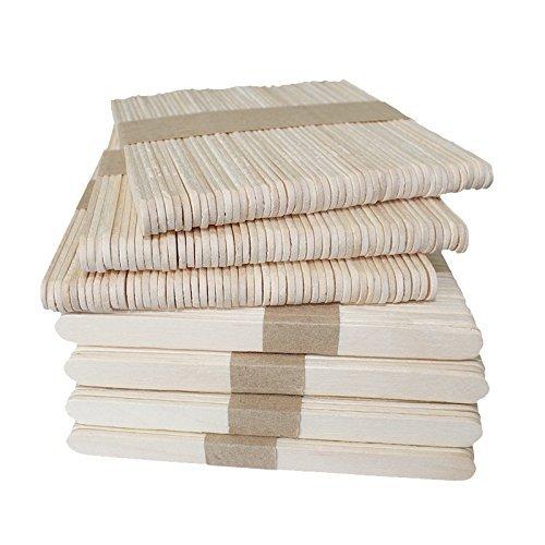 confronta il prezzo 300 pcs bastoncini in legno naturale, 11,4 cm, per lecca lecca, gelati, oggetti fai da te, dessert miglior prezzo