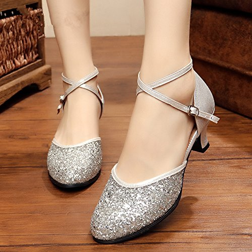 Summer Square Dance chaussures de danse de salon des chaussures de danse latine femmes chaussures de danse femmes chaussures de danse Argent