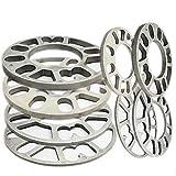4PCS Élargisseurs de voie, 4 pièces en alliage d'aluminium 4 et 5 LUG 3/5 / 8/10 / 12 mm Épaisseur universel Espaceurs de roue (10mm thick)