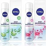 Nivea Body Deodorizer Fresh Citrus & Fresh Rose Care Gas Free Spray For Women, 120ml