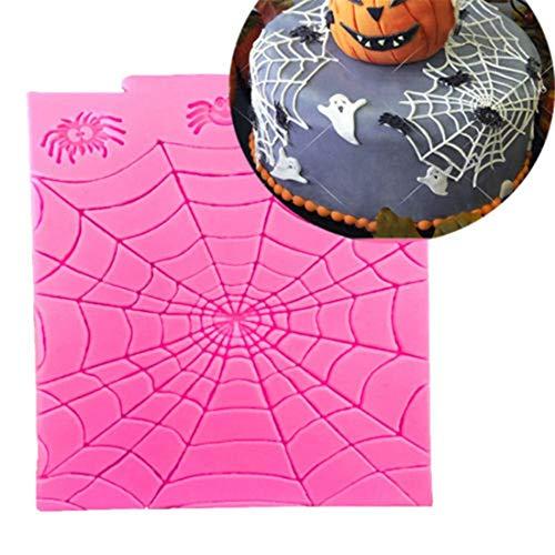 Fliyeong Premium Qualität Halloween Theme Spinnennetz Silikonform DIY Fondant Schokolade Süßigkeiten Kuchenform Kuchen Dekor Sugarcraft Formbackenwerkzeuge (Pops Cake Halloween Sie Dekorieren Für)