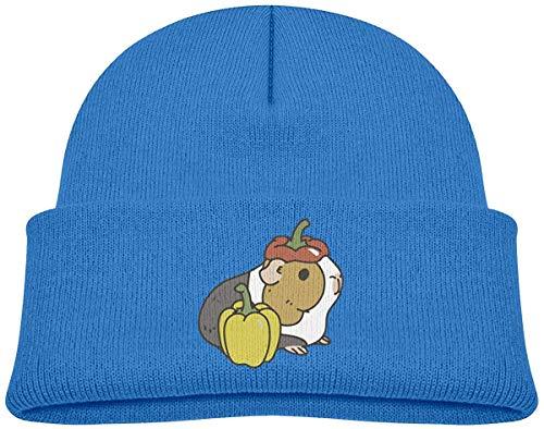 Bell Children's Kostüm Boy - Qinckon Bell Pepper Guinea Pig Boys and Girls Soft Knitted Cap Happens Skull Cap Hat S