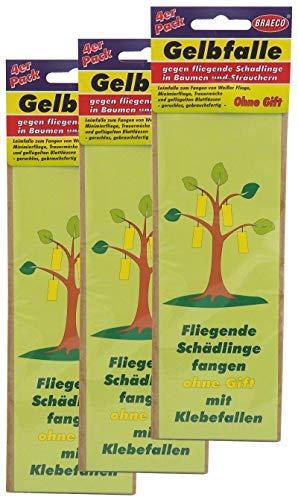 Preisjubel 24 x Gelbfalle gegen Fliegende Schädlinge in Bäumen, Gelbsticker, Leimfalle