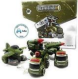 FunBlast Battlefiled Vehicles Play Set- Push and Go Friction Powered Crawling Toy |