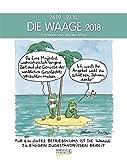 Waage 2018: Sternzeichenkalender-Cartoonkalender als Wandkalender im Format 19 x 24 cm.