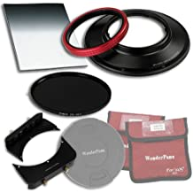 """WonderPana 66 FreeArc Essentials ND 0.6SE Kit - Rotating 145mm Filter System Holder, Lens Cap, Fotodiox Pro 6.6""""x8.5"""" 0.6 (2-stop) Soft Edge Grad ND and 145mm ND16 (4-Stop) Filters for the Canon 14mm Super Wide Angle EF f/2.8L II USM Lens (Full Frame 35mm)"""