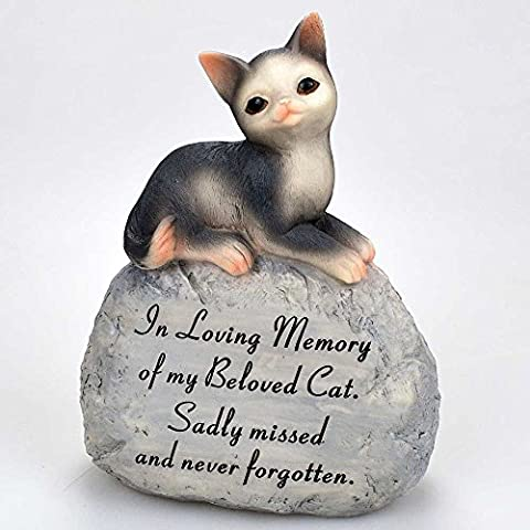 Beloved Cat Pet Graveside Memorial Plaque Ornament Grave Decoration