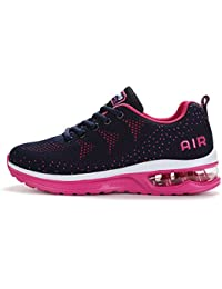 b67097291ca Fexkean Hommes Femme Basket Mode Chaussures de Sports Course Sneakers  Fitness Gym athlétique Multisports Outdoor Casual