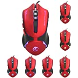Segolike Professional Wired Gaming Mouse 6 Button 3200DPI LED USB Game Mouse For PC Red