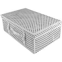 Hangerworld - Caja para guardar Vestido de Novia o para Viajes, Blanca con Lunares Negros – pH neutro y sin ácidos, 10 pañuelos protectores de papel gratis