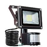 LED Strahler Bewegungsmelder Außen Fluter LED Aussenstrahler Mit BewegBungsmelder 10W Wasserdicht 1000 LM LED Lampen [Energieklasse A++]