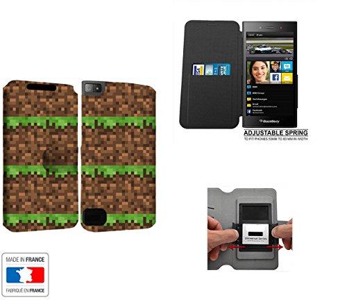 Case Industry Innovative Construction Terrain Grass Heart Map - Jeux Collection Pattern BlackBerry Z3 Schutzhülle mit internen Speicher Tür-Karte - BlackBerry Z3 Blackberry Maps