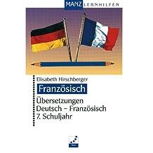Übersetzungen Deutsch-Französisch, 7. Schuljahr