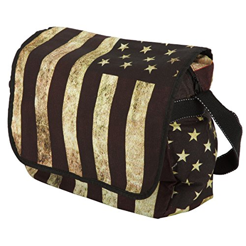 Usa Tasche (Baumwolle Schultertasche Medium Damen stars and stripes USA)