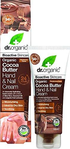 Dr. Organic - Crème mains et ongles au beurre de cacao 100 ml