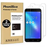 [Pack de 2] Verre Trempe ASUS ZENFONE 3 MAX PLUS ZC553KL 5.5' - Film Protection Ecran Verre Trempe Glass Screen Protector Tempered Ultra Resistant [Lot de 2] Vitre Ecran Protecteur Anti Rayure Sans Bulle d'Air Dureté 9H Ultra Mince Transparent Phonillic