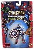 Marvel Spider-man & the Marvel Universe Captain America Diecast Figure By Toy Biz