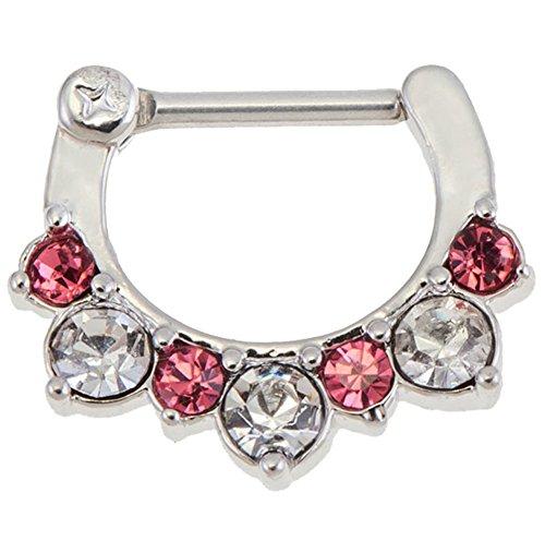 VAGA Orientalischer Kupfer Nasenring Nasenpiercing Ring Piercing Silber Franse Kristalle